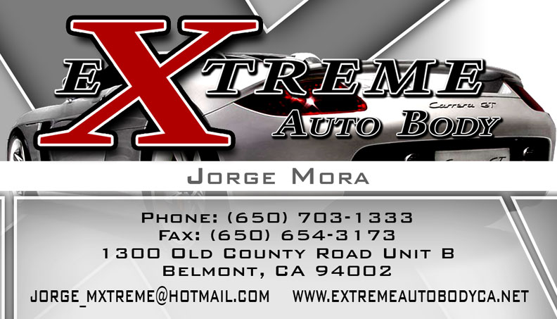 Extreme Auto Body Business Card