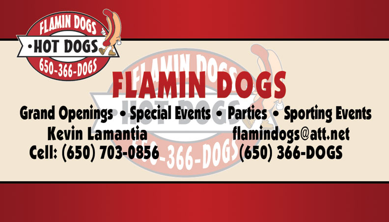 Flamin Dogs Business Card