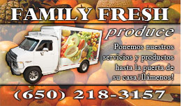 Family Fresh Produce Full Color Business Card  and Graphic Design