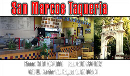 San Marcos Taqueria Full Color Business Card and Graphic Design