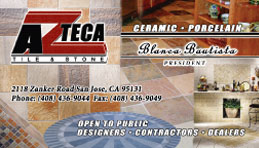 Azteca Tile and Stone  Full Color Business Card and Graphic Design