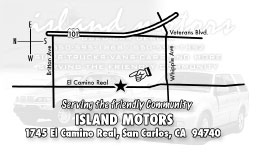 Island Motors BACK  Full Color Business Card and Graphic Design