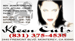 Kleen Cuts Full Color Business Card and Graphic Design