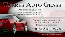 Torres Auto Glass - Full Color Business Card and Graphic Design