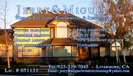 Jerry & Migueo Window Cleaning Full Color Business Card  and Graphic Design