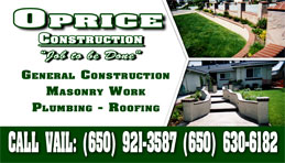 Oprice Construction Full Color Business Card and Graphic Design