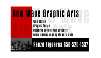 New Wave Graphic Arts Full Color Business Card  and Graphic Design